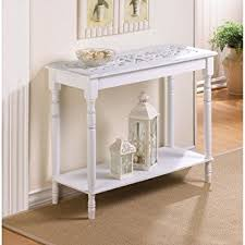 amazon com carved top distressed white chic shabby wood sofa