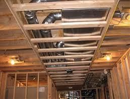 framing around duct work basement ideas pinterest basements