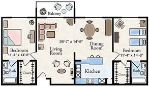 two bedroom apartment floor plan larksfield place