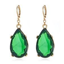 emerald drop kenneth emerald drop earrings hauteheadquarters