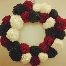 christmas yarn pom wreath brittany hill boutique