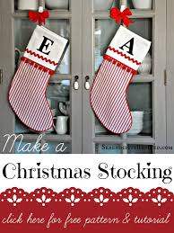 Homemade Christmas Stockings by How To Make A Christmas Stocking Fox Hollow Cottage