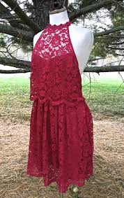 nwot 128 free people raspberry pink lace lost in a dream twofer
