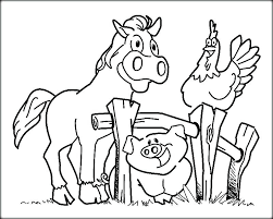 Farm Coloring Pages Animals For Kids Color Thaypiniphone Farm Color Page