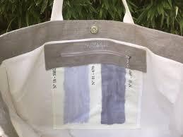 sac cabas lin cabas lin duo de pompons écru et gris