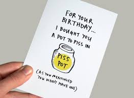 birthday card greeting card sarcastic birthday