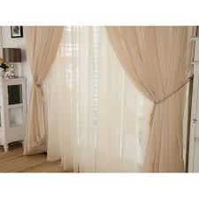 champagne yarn lace curtains for living room