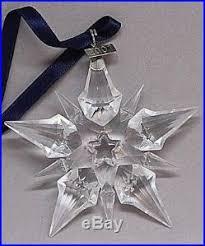 swarovski lead snowflake ornament 9445 nr 200101