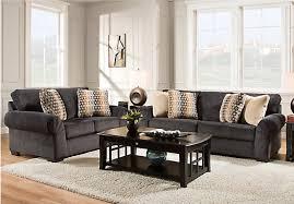 Rooms To Go Living Room Set Danes Graphite 2 Pc Living Room Living Room Sets Gray