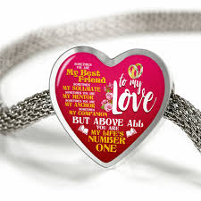 luxury charm bracelet images To my love my life 39 s number one heart luxury charm bracelet png