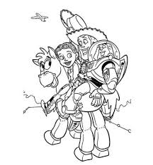 jessie woody buzz bullseye toy story coloring pages boys