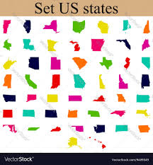 Usa State Maps by Set Of Us State Maps Royalty Free Vector Image