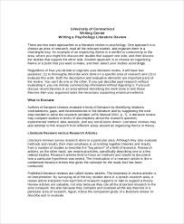 how to write a literature review apa example