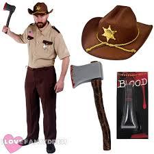 Super Troopers Costume Halloween Rick Grimes Costume Ebay