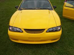Mustang Yellow And Black 1998 Mustang V6 Upgrades Tint Pulleys Black Projector
