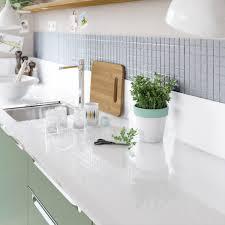 plan de travail de cuisine sur mesure plan de travail sur mesure verre laqué blanc ep 15 mm leroy merlin