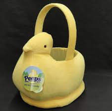 fuzzy easter details about dandee plush peeps figural easter basket yellow