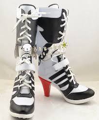 buy boots makeup harley quinn costume squad shoes