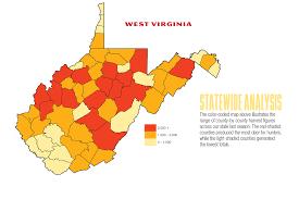 Map Of West Virginia Counties 2017 West Virginia Deer Forecast Game U0026 Fish