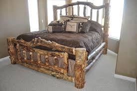 California King Beds For Sale Bradley U0027s Utah Log Furniture Rustic Aspen Log Bedroom Collection