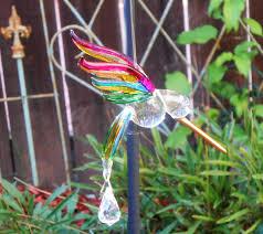 glass hummingbird ornaments cool hummingbird yard