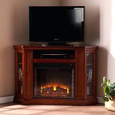 corner entertainment center electric fireplace rustic oak stand