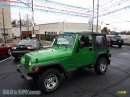 electric 4x4 2004 jeep wrangler x 4x4 in electric lime green pearl 702770