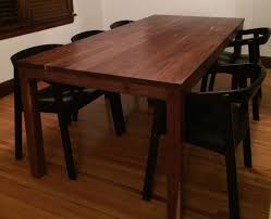 parsons wood dining table walnut parsons table timbersmith
