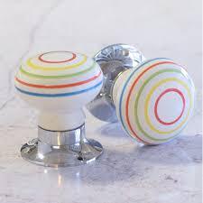 coloured glass door knobs unique home accessories homeware and decor multi colour striped