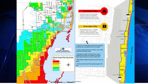 Map Of South Florida South Florida Evacuation Zones In The Event Of A Hurricane