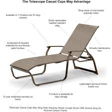 Telescope Furniture Replacement Slings by Telescope Casual Cape May Sling Patio Stacking Chaise Lounge
