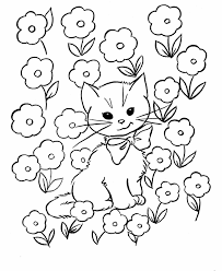 easter kids coloring pages free printable easter kitty cat