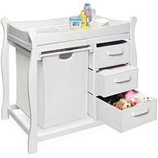 White Changing Tables For Nursery Badger Basket White Changing Table With Her And Three Baskets