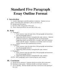 essay format high school an essay outline outline for an essay christie golden sle