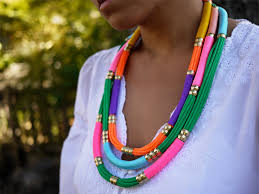 colored rope necklace images 25 beautifully colorful diy necklaces jpg