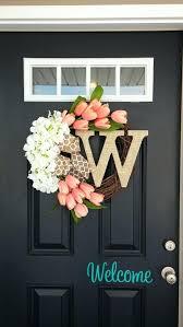 Door Monogram Decoration Monogram Front Door Decoration Front Door Wreaths Monogram Front