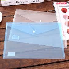 fermeture bureau en gros 3 pcs transparent en plastique fermeture dossier documents sac a4