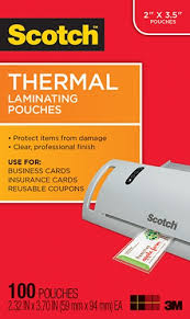 business card laminator scotch tp5851 100 thermal laminating pouches business card 2 516 x