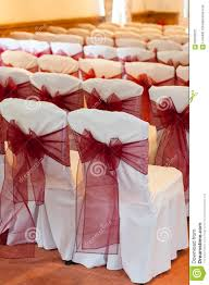 wedding chair bows wedding chair bows stock photo image 63559221