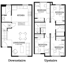 small bedroom floor plans cus corner townhouse floor plan 4 bedrooms 2 bathroom