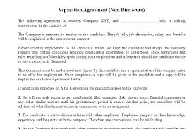 non disclosure agreement template for employee dotxes