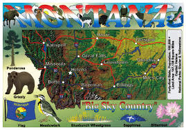 Map States Usa by Large Tourist Map Of Montana State Montana State Usa Maps Of