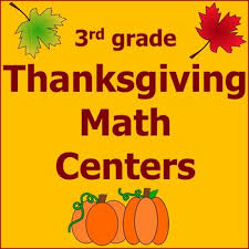 thanksgiving math centers 3rd grade common by kendra seitz