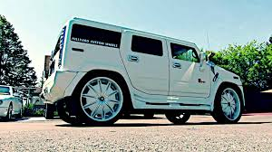 hummer jeep white custom white hummer 28 inch rims 32 inch custom interior audio