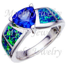 tanzanite blue rings images Tanzanite blue fire opal 925 sterling silver ring jewellery buy jpg