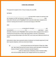 franchise contract sample franchise agreement form sample