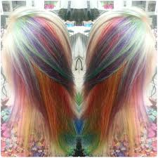 hair color 201 rainbow unicorn hair color symmetrical underpainting