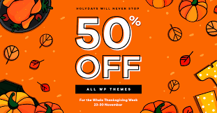 30 themeforest themes on 50 thanksgiving sale colorlib