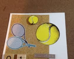 tennis birthday card etsy