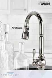 kohler faucets kitchen sink kohler k 99259 sn artifacts vibrant polished nickel pullout spray